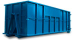 40 yard blue dumpster