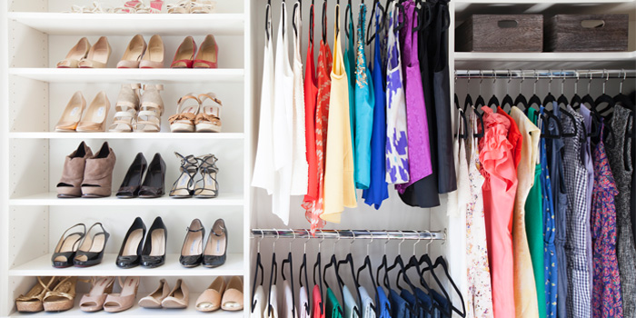 clean closets - Decluttering House