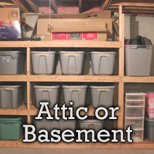 attic and basement