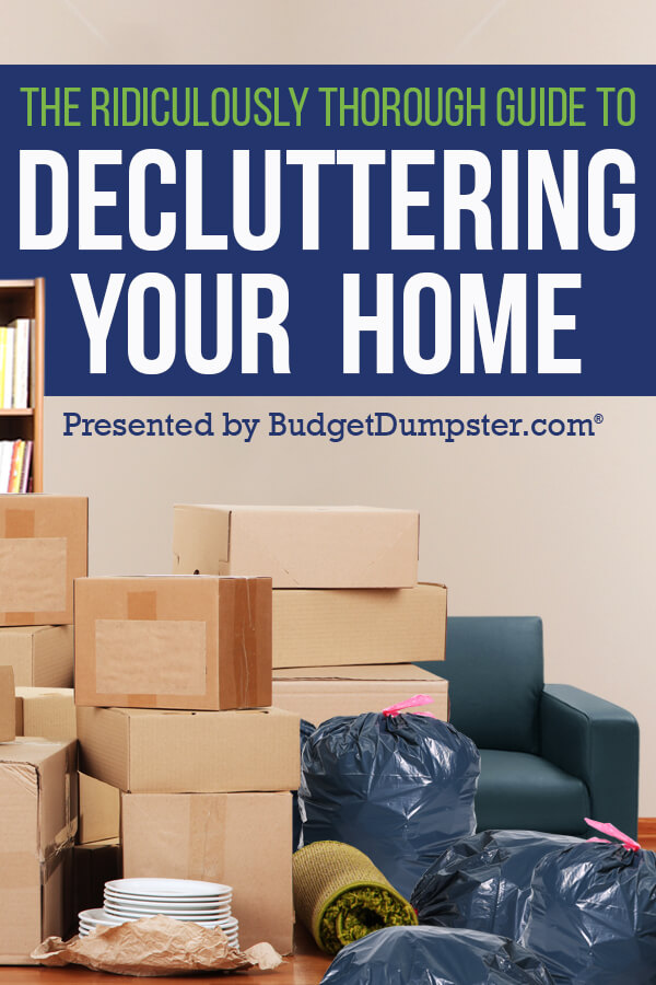 how to declutter your home - Decluttering House