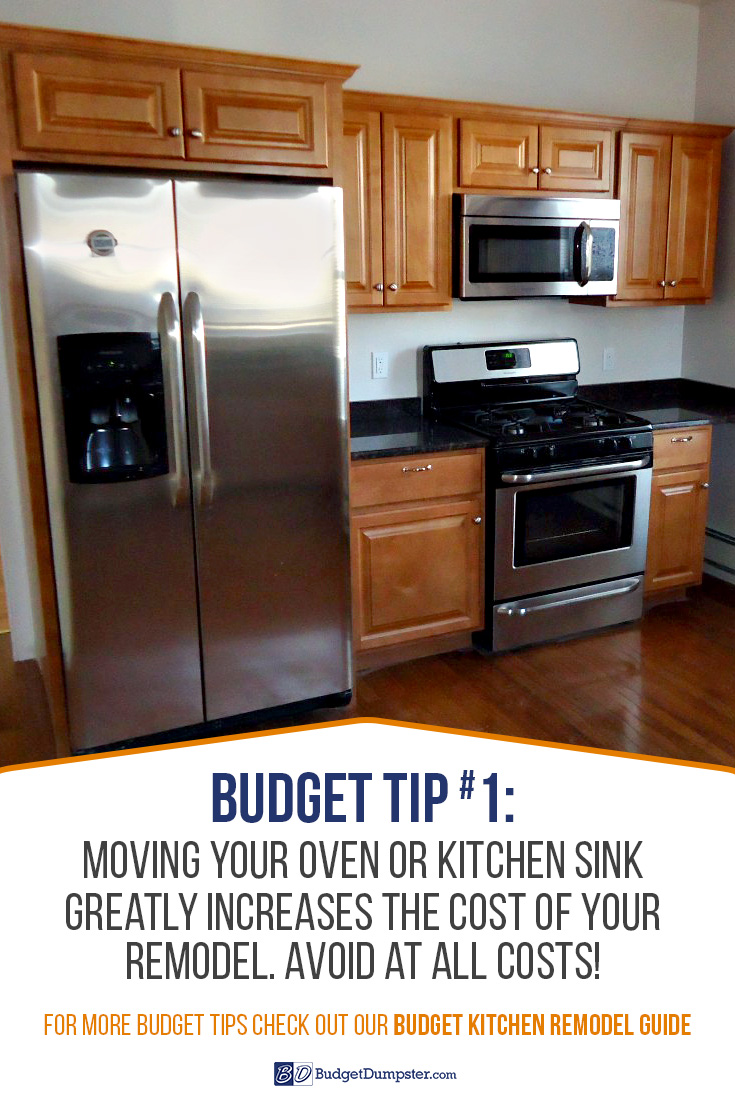 Budget Kitchen Remodel Tip #1: Donu0027t Move Your Sink Or Oven.