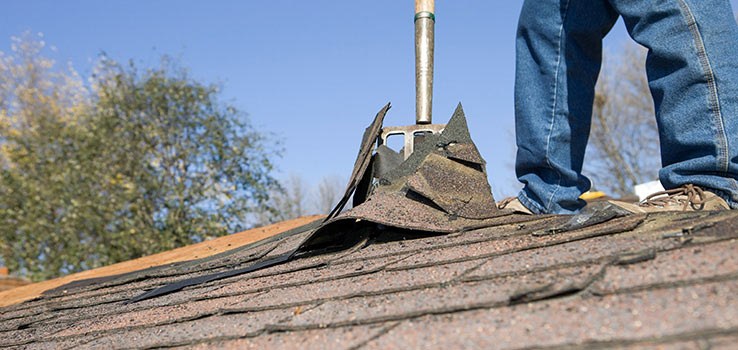 How to remove old asphalt shingles