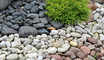 Rocks Recycled in Landscaping